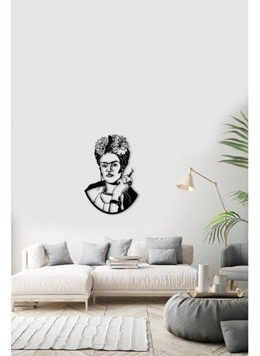 Angemiel Home Frida Kahlo Metal Duvar Tablosu Siyah